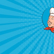Business card Chef Cook Baker Smiling Cartoon — Stock Photo #60383153