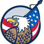 американское орлиное ретро флага звезд и полос — Cтоковый вектор #61912801