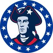American patriot minuteman stars retro — Stock Vector