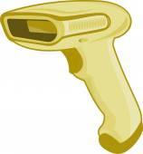 Barcode scanner reader retro — Stockvector