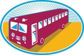 Vintage coach bus shuttle retro — Stok Vektör
