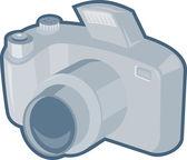 Dslr camera retro — Stock Vector