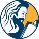 Saint Jerome Reading Bible Retro — Stock Vector #62297275