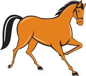 Horse Cantering Side Cartoon — Stock Vector