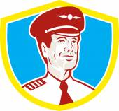 Aircraft Pilot Aviator Shield Retro — Stock Vector