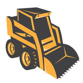 Skid steer digger truck — Stock Vector