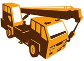Hydraulic crane cartage — Stock Vector
