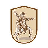 Centurion roman soldier — Stock vektor
