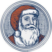 Santa Claus Father Christmas Vintage Etching — Stock Vector