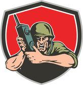 Soldato americano sulla seconda guerra mondiale — Vettoriale Stock
