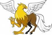 Hippogriff Prancing  Cartoon — Stock Vector