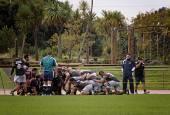 Rugby Union club game — 图库照片