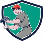Baseball Player OutFielder Throwing Ball — Stock Vector