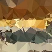 French Beige Abstract Low Polygon Background — Stock Vector