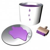 Purple paint — Stock Photo