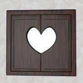 Heart window — Stock Photo