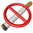 Prohibition sign over cigarette — Stock Photo #59690045