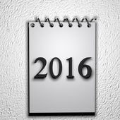 2016 calendar — Stock Photo