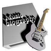 Music biography — Stock Photo