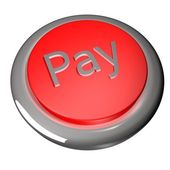 Pay button — Stock Photo