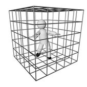 In the cage — Stock Photo