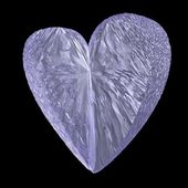 Crystal heart — Stock Photo