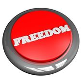 Freedom button — Stock Photo