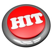 Hit button — Stock Photo