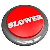 Slower button — Stock Photo