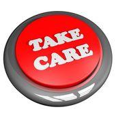 Take care button — Stock Photo