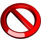 Ban symbol — Stock Photo