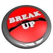 Break up button — Stock Photo