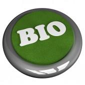Bio button — Stock Photo