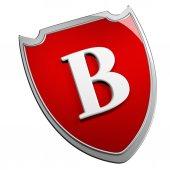 B Shield — Stock Photo