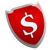 Dollar shield — Stock Photo