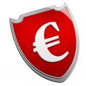 Euro shield — Stock Photo