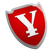 Yen schild — Stockfoto