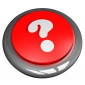 Interrogative point button — Stock Photo