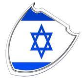 Israel shield — Stock Photo