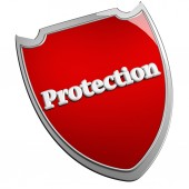 Protection shield — Stock Photo