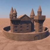 Castle of sand — Stock Photo