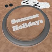 Summer holidays button — Stock Photo