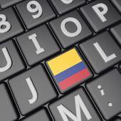 Colombia key — Stock Photo