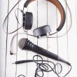 Headset and microphone — Stock Photo #77969060