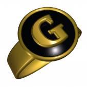 G letter — Stock Photo