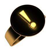 Exclamation ring — Stock Photo