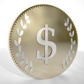 Dollar coin — Stock Photo