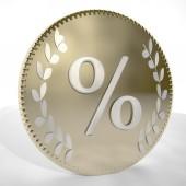 Percentage symbol — Stock Photo
