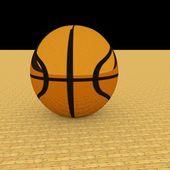 Golden basketball — Stock Photo