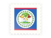 Postage stamp icon of belize — Foto de Stock